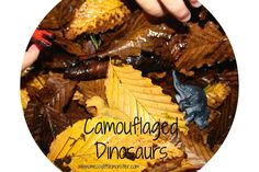 Camouflaged Dinosaurs in Autumn Leaves