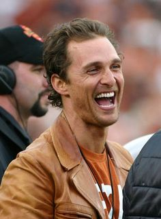 Matthew Mcconaughey... Love the Longhorns shirt!!!
