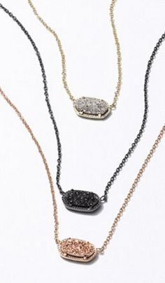 Kendra Scott druzy pendant necklaces