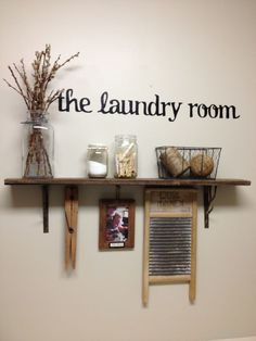 Laundry room shelf-a woman's touch even in the laundry room! Description from pinterest.com. I searched for this on bing.com/images