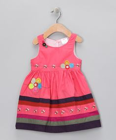 Pink Stripe Blossom Dress - Infant, Toddler & Girls | Daily deals for mums, babies and kids