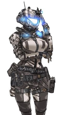 maybe something like this for the females? I know I want kneepads and elbowpads and armor and stuff. Female Character Design, Character Concept, Character Art, Arte Cyberpunk, Anime Military, Futuristic Armour, Robot Girl, Sci Fi Armor, Thicc Anime