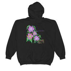 """""""Mohawk Lilies"""" zip up hoodie"""