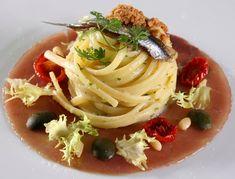 Linguine con colatura di alici di Cetara: chef Vincenzo Guarino