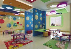 Kindergarten interior design image in 3D