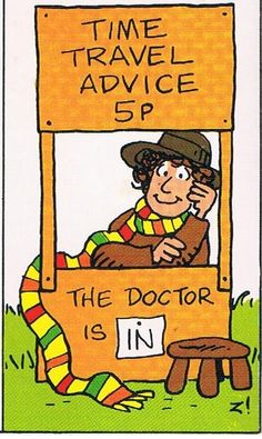 Doctor Who in Charlie Brown style