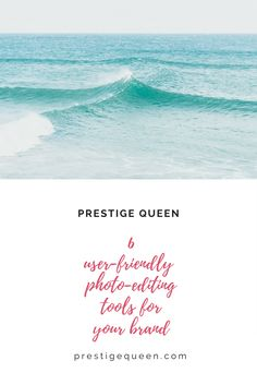 Want to produce stunning photos? Sharing today 6 user-friendly design and photo-editing tools on the blog! 💋 http://www.prestigequeen.com/design-photo-tools/