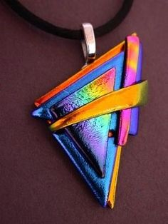 DICHROIC FUSED GLASS PENDANT by francis