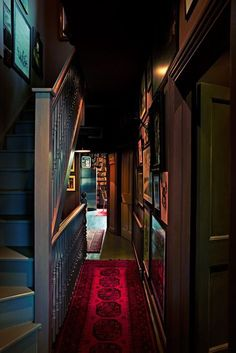 Home Away: Gem's pad, hallway by Abigail Ahern Decoration Inspiration, Room Inspiration, Interior Inspiration, Future House, My House, The Dark Side, Dark Hallway, Decoration Entree, Interior And Exterior