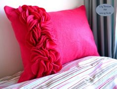 Felt Ruffle Border Cushion
