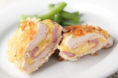 Chicken Cordon Bleu - A Family Feast® - New Ideas Clam Cakes, Chicken Cordon Blue, Cordon Bleu Recipe, Corn Relish, Salty Foods, Delicious Burgers, Healthy Eating Tips, Empanadas, Kids Meals
