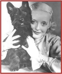 Bette Davis & her Scottie Dog MacTavish.