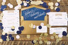 blue and gold wedding brides of adelaide magazine