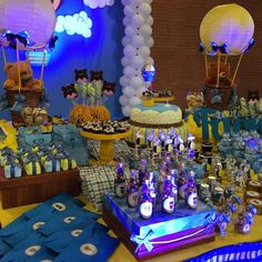 Treat Filled Table At A Teddy Bear 1st Boy Birthday Party See More Ideas CatchMyParty