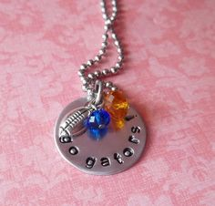 Handstamped Florida Gators Necklace on Etsy, $19.00