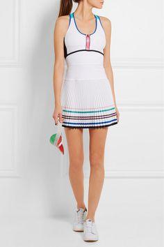 Monreal London | Sunray stretch-jersey tennis dress | NET-A-PORTER.COM