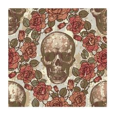 Skull and hoop roses retro vintage picture wall mural Skull Shower Curtain, Custom Shower Curtains, Fabric Shower Curtains, Vintage Abbildungen, Halloween Frames, Skulls And Roses, Free Vector Graphics, Skull Art, Vector Pattern