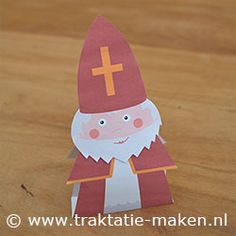 Printable St. Nicholas Papercraft--Put a box of raisins inside for a sweet surprise :)