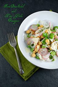 Authentic Suburban Gourmet: Fava Bean Salad with Honey Garlic Vinaigrette