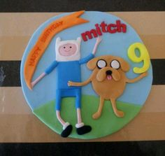 Adventure time cake topper