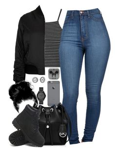 """""""III ♡ IV ♡ MMXVI"""" by justice-ellis ❤ liked on Polyvore featuring Topshop, MICHAEL Michael Kors, Timberland and Michael Kors"""