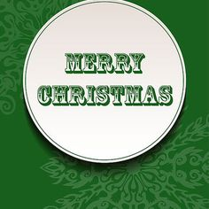 Merry Christmas - Green Greeting Card