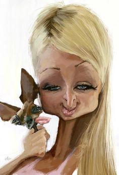 Paris Hilton por Olle Magnusson - Caricaturas de Famosos