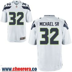 mens seattle seahawks 32 christine michael sr white road stitched nfl nike  game jersey e7020275d