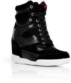 10aa5ab2805 Black Wedge Sneakers - Lyst Black Wedge Sneakers