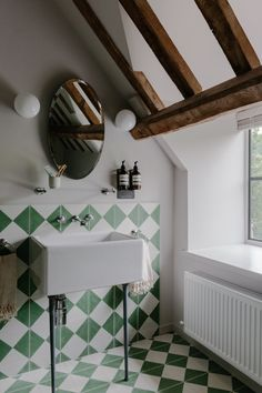 Cotswold Farm Hideaway: A Swiss Family's Cottages for Let in the English Countryside - Remodelista - Bathroom Ideas Bad Inspiration, Bathroom Inspiration, Boho Bathroom, Bathroom Lighting, Modern Bathroom, Bathroom Green, Small Bathroom, Master Bathroom, Interior Exterior