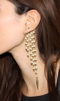 Pearl Spike Ear Cuff <3