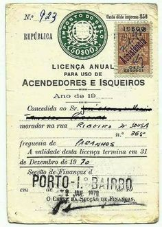 Portugal: licença para usar isqueiro. San Francisco Earthquake, Old Paper, My Memory, Old Pictures, Vintage Posters, Illustrations Posters, Ephemera, Childhood Memories, Nostalgia