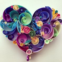 "Quilled Paper Art: ""Love is All Around"" by SenaRuna This quilling is created and designed by SenaRuna, please just like/share them and create your own way:) Arte Quilling, Quilling Designs, Fun Crafts, Arts And Crafts, Paper Crafts, Diy Paper, Ribbon Crafts, Paper Pin, Quilled Paper Art"