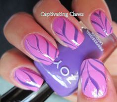 Water Marble featuring Zoya Nail Polish in Shelby and Zoya Mira! Captivating Claws