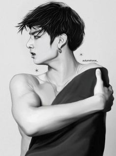 Read And from the story FANART //JIKOOK by jikookfr with reads. Ever since Jungkook had seen the boy in the painting he could. Jungkook Fanart, Bts Jungkook, Fanart Kpop, Fanart Manga, Vkook Fanart, Fan Art, Beauté Blonde, Kpop Drawings, Wattpad