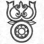 Trisula (Trident): weapon and symbol of Shiva. In Buddhism it is a symbol of Triratna, the Threefold Jewel: Buddha, Dharma, and Sangha.
