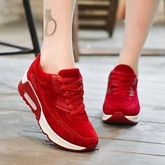 WOMEN!! Women's Shoes Round Toe Athletic Shoes Outdoor / Athletic / Dress / Casual Black / Green / Pink / Red $60.00 You save 40% off the regular price of $100.00 Women's Shoes Round To…