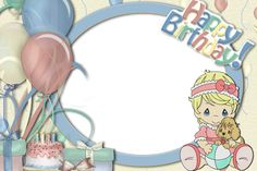 Picture Frame for scrape booking Birthday Photo Frame, Happy Birthday Frame, Birthday Frames, Birthday Photos, Happy Birthday April, Birthday Wishes For Kids, Free Birthday, Birthday Presents, Precious Moments