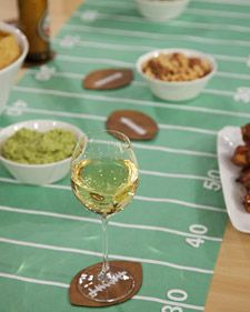 Football-Field Runner and Football Coaster | Step-by-Step | DIY Craft How To's and Instructions| Martha Stewart