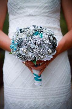 Handmade broach bouquet