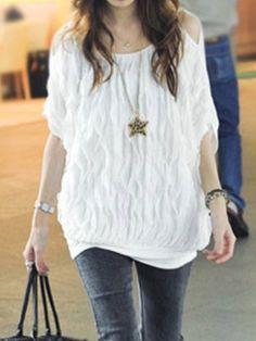 Fashion Layer Off Shoulder Short Sleeve T-Shirt