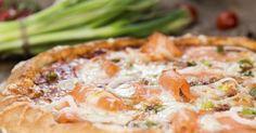 Recette de Pizza saumon-poireaux au Thermomix©. Facile et rapide à réaliser, goûteuse et diététique. Ingrédients, préparation et recettes associées.