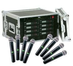 Shure SLX24SM58 8Pack Wireless Handheld Microphone System ** Read more at the image link.
