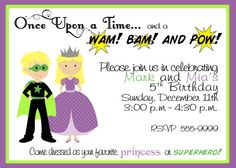 Super Hero and Princess Birthday Party by TheSimplySweetShoppe