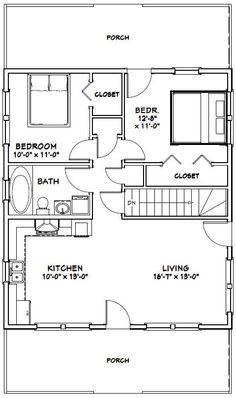 28x32 House -- #28X32H2K-- 848 sq ft - Excellent Floor Plans