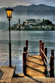 Lago d'Orta, Isola di San Giulio, Italy