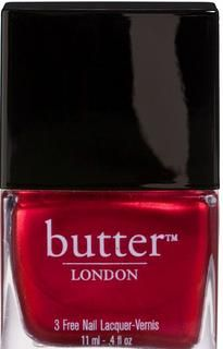 """butter LONDON - Metallic Red Nail Polish  """"Knees Up""""- Reminds me of Mr.Fifty Shades"""