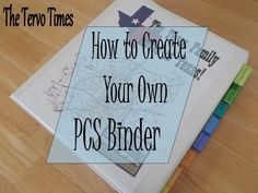 The Tervo Times: How to Create Your Own PCS Binder