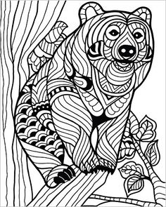 820 Best Animal Coloring Pages For Adults Images In 2019 Coloring