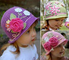 MENTŐÖTLET - kreáció, újrahasznosítás: Horgolt kalap kislányoknak